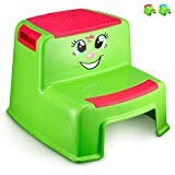 Step Stools for Kids - Toddlers Potty Step Stool for Toilet Training - Dual Height Two-Step Stairs Stool - Lightweight Cute Design for Use in Bathroom and Kitchen sink - Hot Pink Girls- By Toddle doo: more info