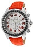 Invicta Grand Diver Silver Dial Red Leather Mens Watch (Invicta Grand Diver Chronograph)