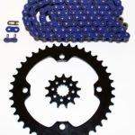 Blue Non O-Ring Chain /& Silver Sprocket 15//40 100L 04-2008 Yamaha YFZ450 YFZ 450