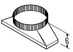 Broan 427 Transition (thin wall) 4-1/2'' x 18-1/2'' to 10'' Round