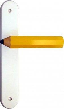 Poignée de porte intérieure pour chambre Enfant sur plaque Crayon ...