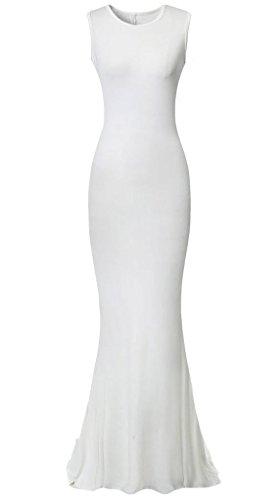 Babyonlinedress - Vestido - recto - para mujer blanco