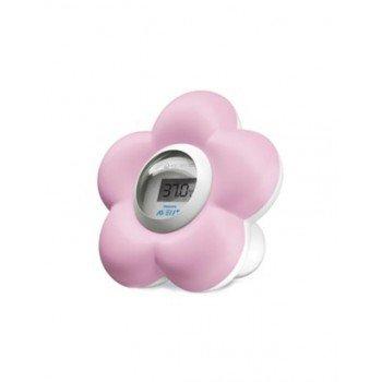 Termómetro Digital para baño y dormitorio Flor Rosa AVENT