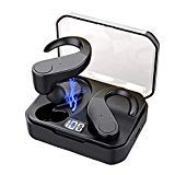 Bluetooth 5.0 Headphones, True Wireless Earbuds IPX7 Waterproof Wireless Headphones 56H Cycle Playtime Deep Bass Bluetooth Earbuds w/Mic, Noise Cancelling Headset for Workout and Sport