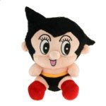 Banpresto Japan Anime Astro Boy Plush Doll Stuffed Toy(Black)