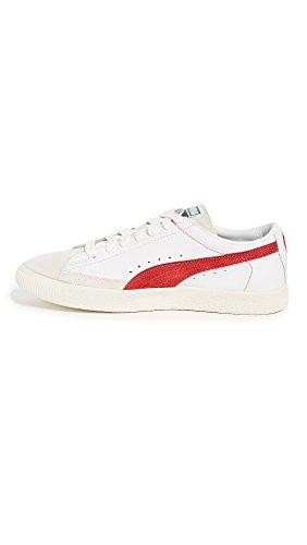 PUMA Select Men's Basket Sneakers, White/Orange, 11.5 D(M) US
