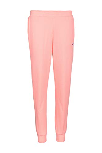Champion Girls Heritage Brushed Fleece Jogger Sweatpant (X-Large, Pink Bow)