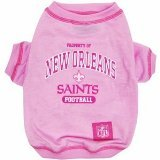 NFL NEW ORLEANS SAINTS Pink Dog T-Shirt, Small. - Football Sports Fan Pet Shirt.