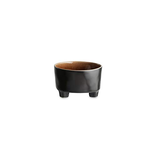 COSTA NOVA Riviera Collection Stoneware Ceramic Footed Cereal Bowl 5.5