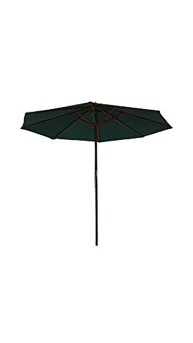 Palm Springs 8ft Wooden Parasol Umbrella Green Palm Umbrella Base