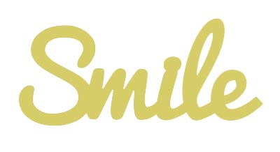 Word Smile Style 1 Cut Out Unfinished Wood Shape Variety Sizes USA Made (6)