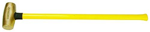 American Hammer AM10BRFG Sledge Hammer, 10 lb., 32'' Brass/Fiberglass, 6.25'' Height, 2.75'' Width, 32'' Length