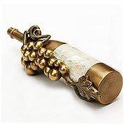 Schaub Wine Themes Wine Bottle w/Grapes 1-1/2 in. (38mm) Pull, Antique Bronze/Highlighted Dark Bronze - 944-AB/DBH