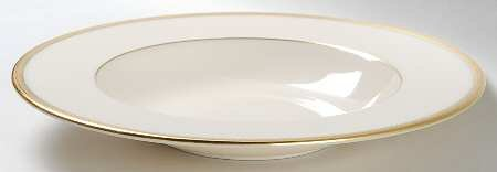 Lenox Tuxedo (Gold Backstamp) Rim Soup Bowl, Fine China -