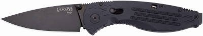 Sog Specialty Knives AE02-CP Aegis Pocket Knife, 1-Hand Open, Black Steel/DigiGrip Handle, 3-1/2-In. Blade by Sog Specialty Knives