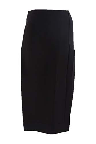 Victoria Beckham Skirt Black Side Slit Pencil SZ 8