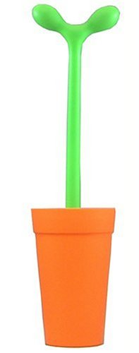 Alessi Aleesi ASG04 O Merdolino Toilet Brush, Orange