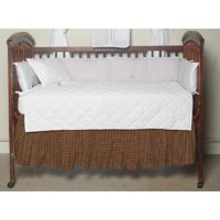 (Patch Magic Green and Warm Brown and Red Plaid Fabric Dust Ruffle Crib)
