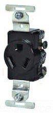 (Cooper Wiring Devices 834B-BOX Recp Single 20A 277V 2P3W Str Swire BR)