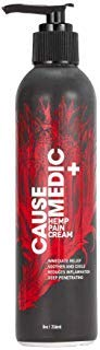 (CAUSE+MEDIC Hemp Infused 400 mg Pain Relief Cream 8 oz - Cooling Topical Analgesic for Muscle & Joint Pain Relief - Water-Soluble Hemp Oil Lotion)