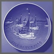 Grondahl Porcelain (Vintage 1966 Bing & Grondahl Porcelain Christmas Plate --