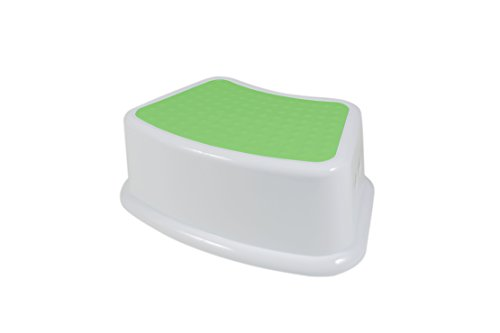 Kids Step Stool by Go Tots For both Toddlers up to Adult. A Small Portable Lightweight Children's Stool for Stepping or Sitting. Used for Bathroom, Bedroom, or Kitchen. (Green) (Bathroom Small Stool)