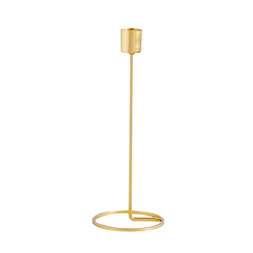 (European Style Candle Holder Gold Single Head Iron 3D Geometric Candlestick Romantic Table Decoration Creative Home Jewelry Wedding Decoration)