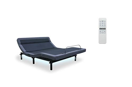 Leggett & Platt New Adjustable Bed! The Williamsburg Plus, 4 Motors, Independent Head Tilt, Dual Massage, Head & Foot Articulation, WallHugger, USB Port, UnderBed Lighting (Cal-King w/Setup)