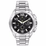 Mens-Citizen-Eco-Drive-Chronograph-Stainless-Steel-with-Black-Dial-Watch-CA0271-56E