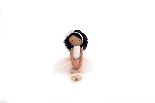Search : Mon Ami Ballerina Designer African American Plush Doll, Pink