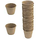 Pack of 24 Biodegradable Seed Planters, Round Shape Seed Starter...