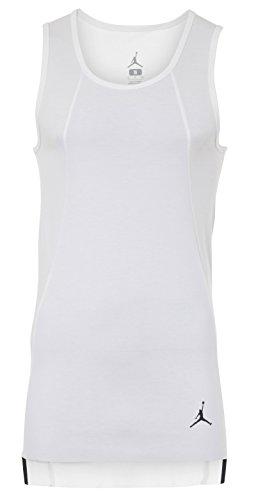 Nike Mens Knit Vest - NIKE Jordan 23 Lux Extended White Mens Tank/Sleeveless Vest Size S