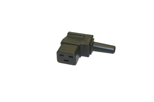 Interpower 83011310 IEC 60320 C19 Angled Rewireable Connector, IEC 60320 C19 Socket Type, Black, 16A/21A Rating, 250VAC Rating by Interpower