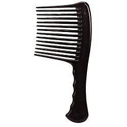 Hot L.A. Beauty Jumbo Rake Handle Comb Untangle Black for cheap