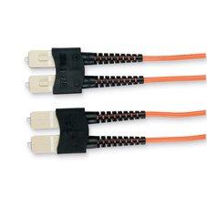 (BLACK BOX Corp EFN210-002M-SCSC Fiber Optic Patch Cable Economy Ceramic MULTIMODE 62.5-Micron Cable SC-SC Duplex Riser 2-M Cable Length)
