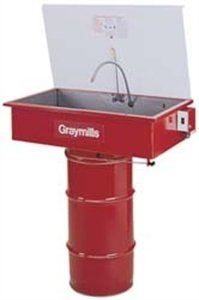 Graymills DMS236 Manual Sink on a Drum Parts Washer (Drum Not Included) by Graymills