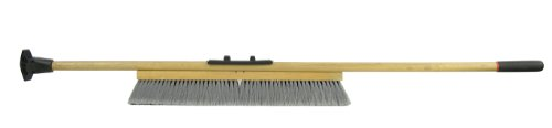 "Weiler 44600 Polystyrene Pro-Flex Sweep with Wood Handle, 2-1/2"" Head Width, 24"" Overall Length, Natural from Weiler"