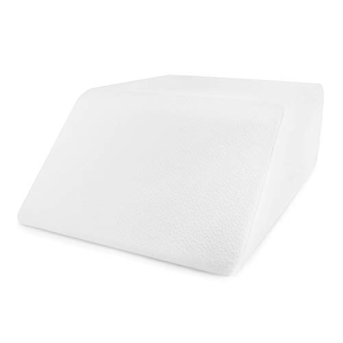 Restorology Elevating Foam Leg Rest Pillow - Wedge Pillow - Reduces Back Pain and Improves Circulation - Includes Removable Cover