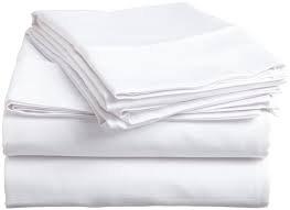 JMR Flat Draw Bed Sheets Muslin T130 Cotton Blend (66x104, white 12 piece) by JMR