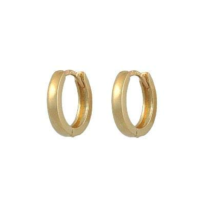 14K Yellow Gold Hinged Hoop Earrings For Girls Childrens Jewelry