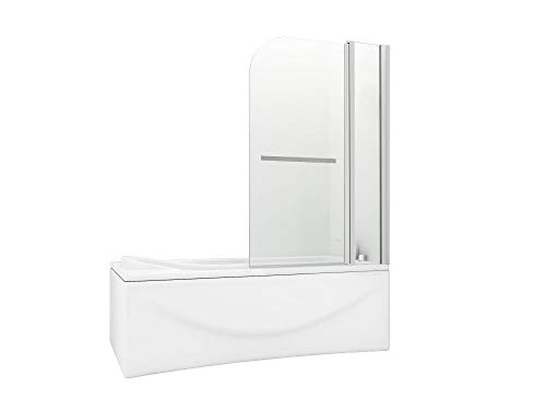 HNNHOME, Puerta para baño, Ducha de Panel Doble con pivote de 180° fácil de Limpiar, Cristal con Grosor de 6 mm, con Mango de Toalla: Amazon.es: Hogar