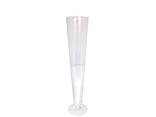 (LACrafts Glass Trumpet Vase 20 Inch, Clear)