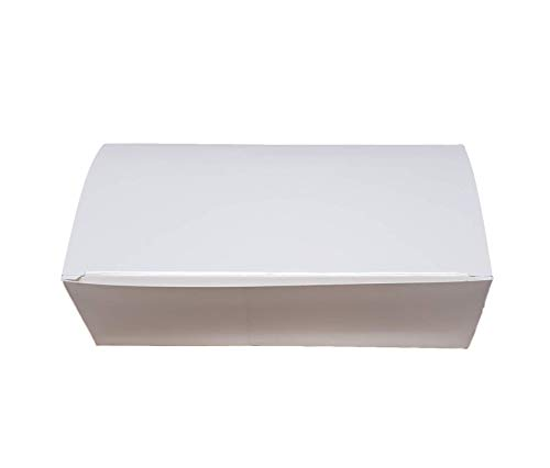 MT Products 7 x 3 3/8 x 2 White Paper 1 LB Candy and Chocolate Gift/Party Favor Box (20 Pieces)