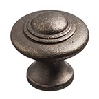 Distressed Series, Solid Brass Knob 1-3/8'' Dia., Oil Rubbed Bronze Finish