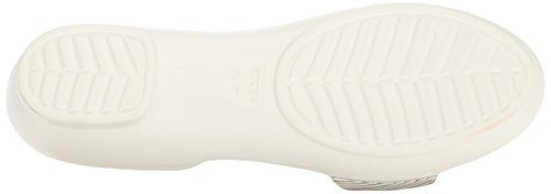 Crocs 204361, Bailarinas Mujer Bianco (Oyster/Champagne)