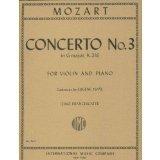 Mozart W.A. Concerto No3 in G Major K. 216 Violin Piano cadenzas by Eugene Ysaye Zino Francescatti