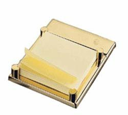 El Casco 23kt Gold Plated Post It Note Holder M-671L by El Casco