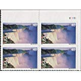 NIAGARA FALLS ~ AIRMAIL #C133 Plate Block of 4 x 48¢ US Postage Stamps