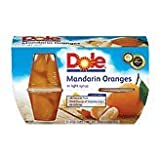 Dole Fruit Bowls, Mandarin Oranges in Light Syrup, 4 oz, 4 ct