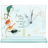 Glass Table Clock - Make Each and Every Day Count